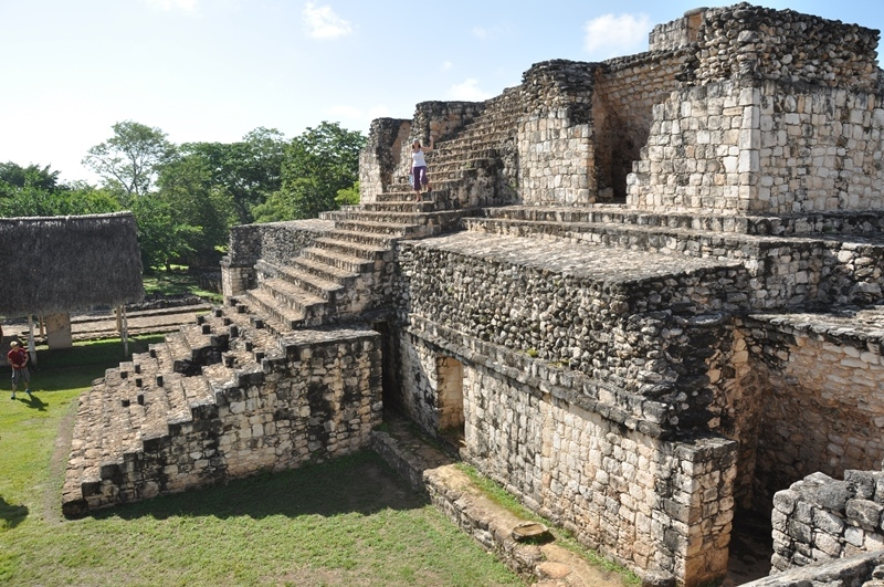 De flotte ruiner ved Ek Balam, Mexico