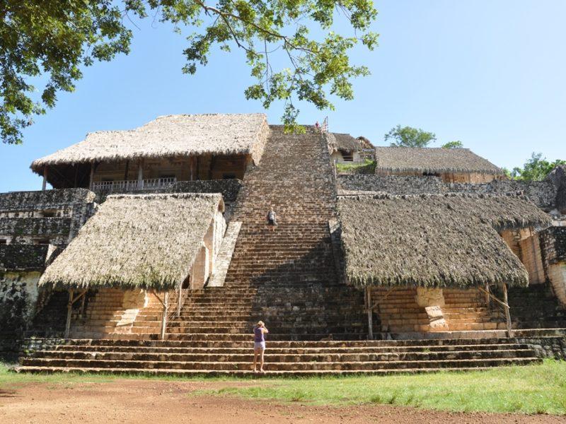 Den største ruin ved Ek Balam, Mexico