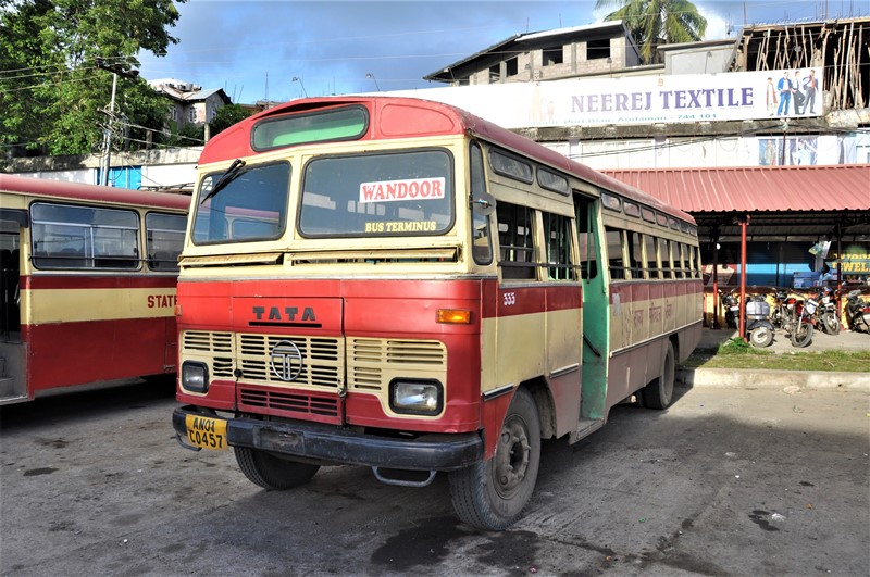 Bus i Port Blair, Andamanerne