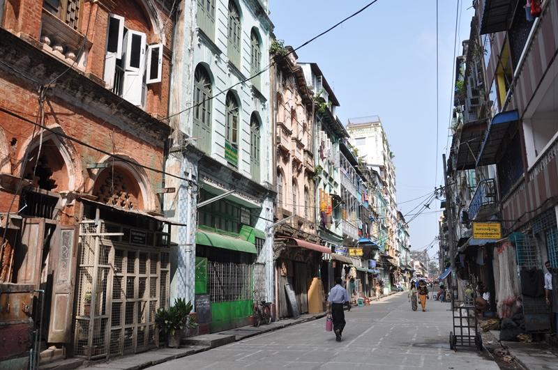 Gade i Yangon, Myanmar