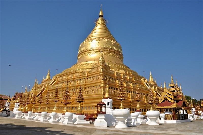 Guldtempel i Bagan, Myanmar
