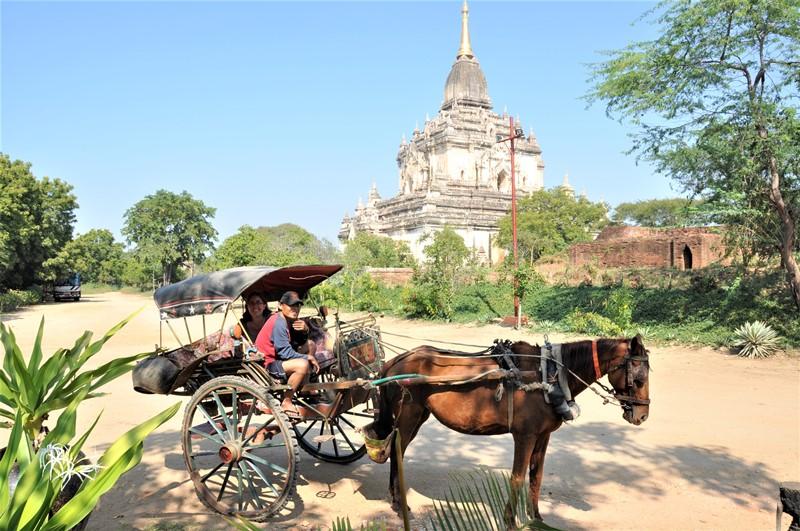 Med hestevogn i Bagan, Myanmar