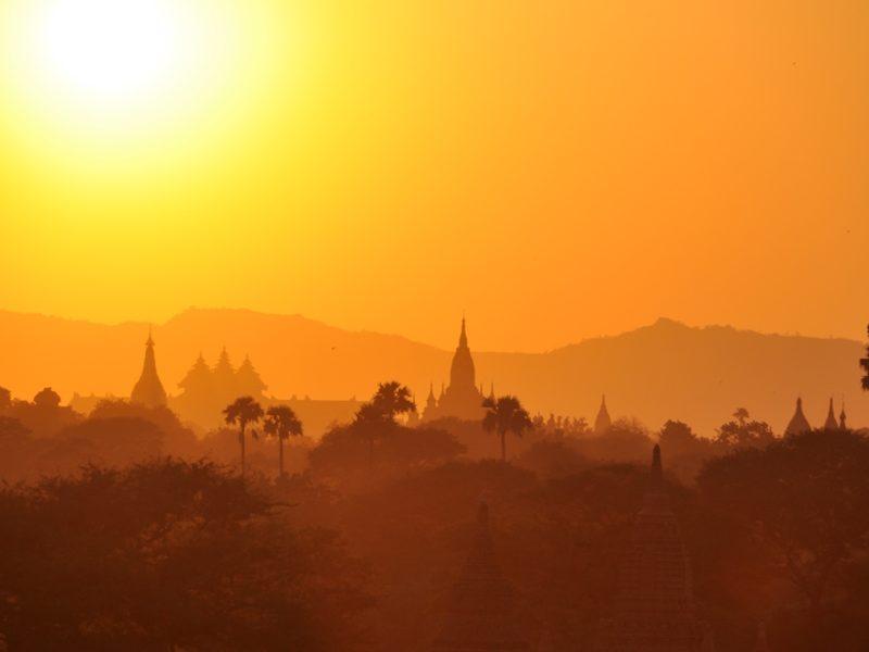 De smukke templer i Bagan, Myanmar