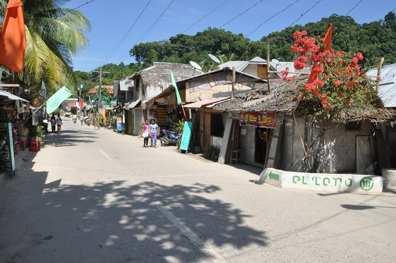 Hovedgaden i El Nido, Palawan, Filippinerne