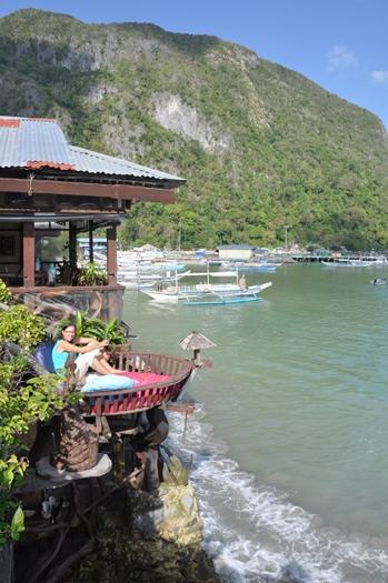 Vi nød udsigten i El Nido, Palawan, Filippinerne
