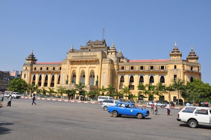 Gadebillede fra Yangon, Myanmar