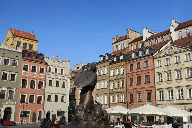 Det gamle torv i Warszawa