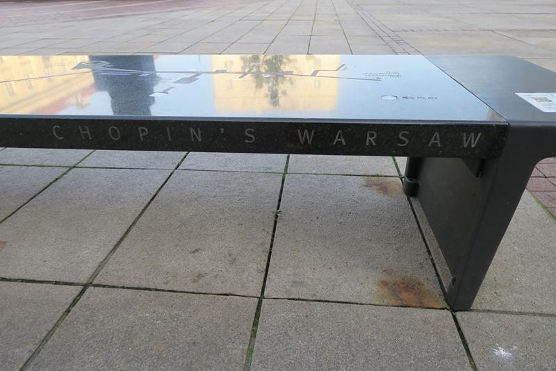 Der findes 15 bænke i Warszawa, som spiller Chopin