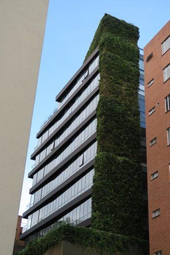 Højhus med hængende have, Bogota, Colombia
