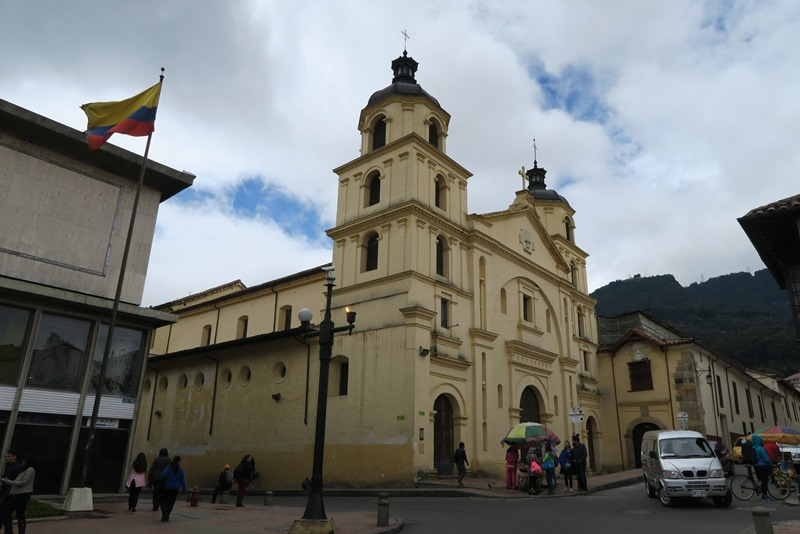 En kirke i Bogota, Colombia