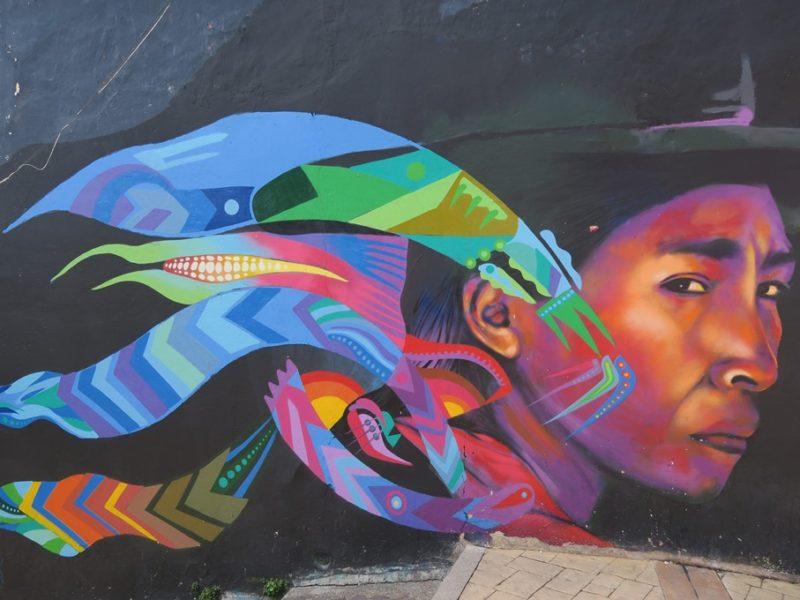 Smuk graffiti i Bogotas gader, Colombia