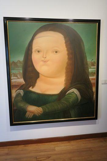 Portræt af Mona Lisa malet af Botero