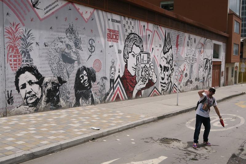 DJLu graffiti, Bogota, Colombia