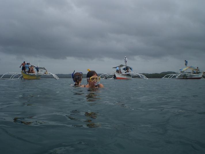 Snorkeltur på jagt efter hvalhajer ved Donsol, Filippinerne