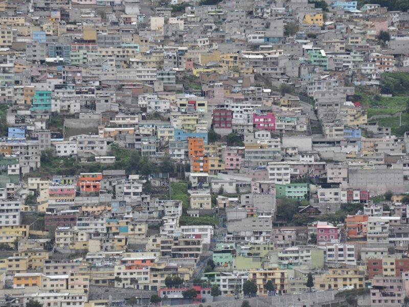 Udsigt over Quito, Ecuador