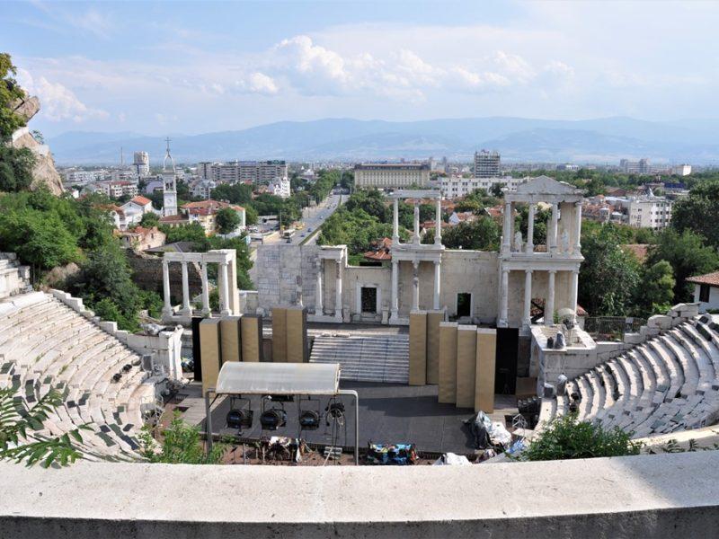 Romersk amfiteater i Plovdiv, Bulgarien