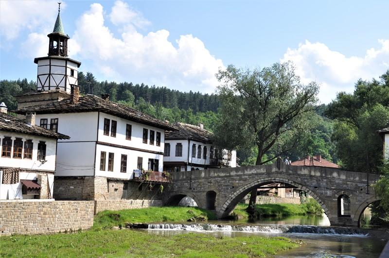 Den gamle stenbro i Tryavna, Bulgarien