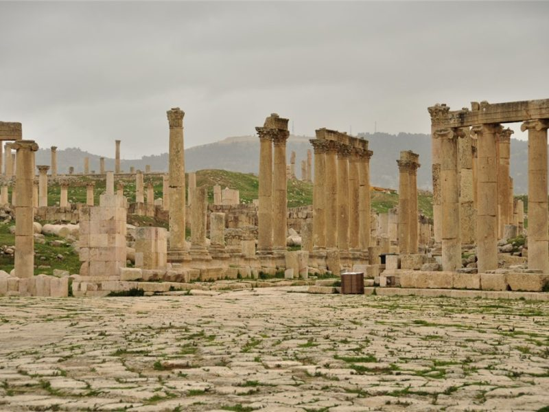 På besøg i Jerash