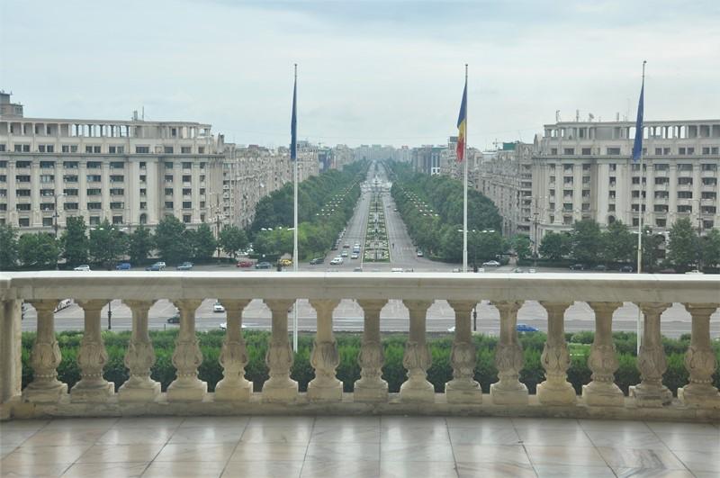 Udsigten fra paladset i Bukarest, Rumænien
