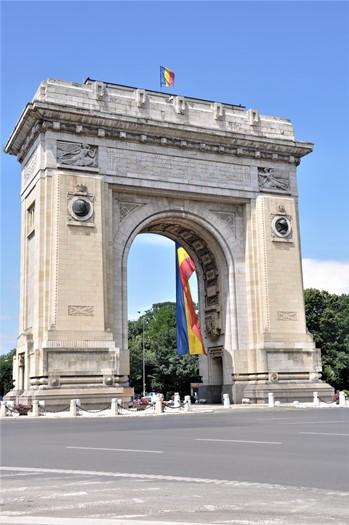 Triumfbue i Bukarest, Rumænien