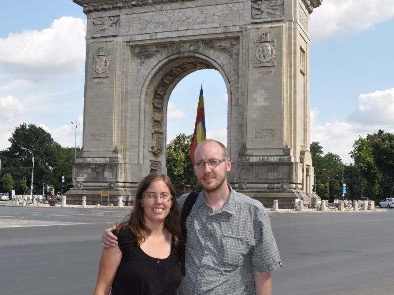 Foran triumfbuen i Bukarest, Rumænien