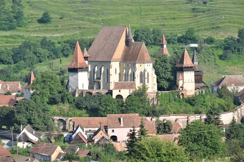 Den befæstede kirke i Biertan, Rumænien