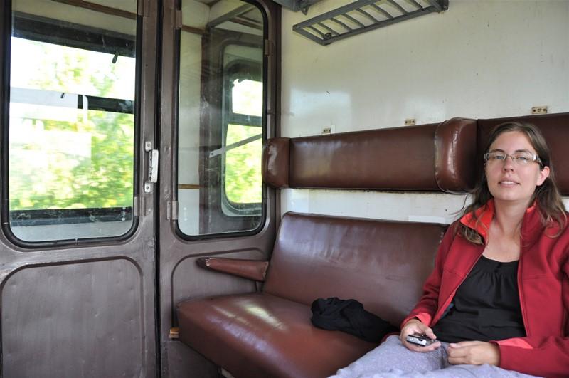 Et rumænsk tog indefra