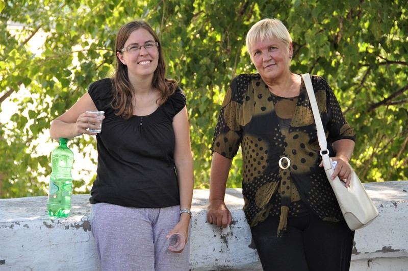 Lariza og Anne Marie i Tiraspol, Transnistrien
