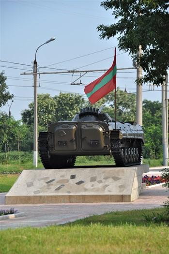 Kampvogn i Tiraspol, Transnistrien