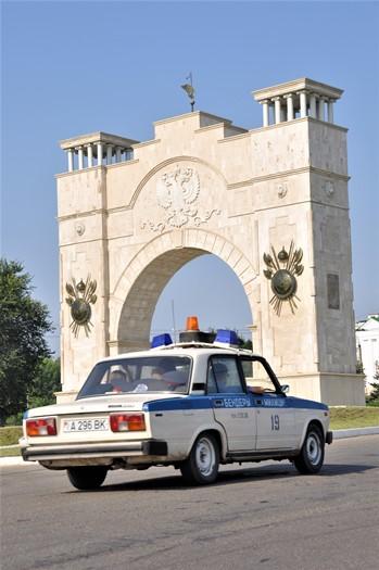 Politibil i Tiraspol, Transnistrien