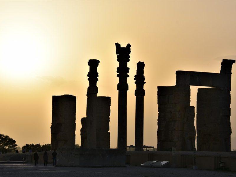 Persepolis i solnedgang, Iran