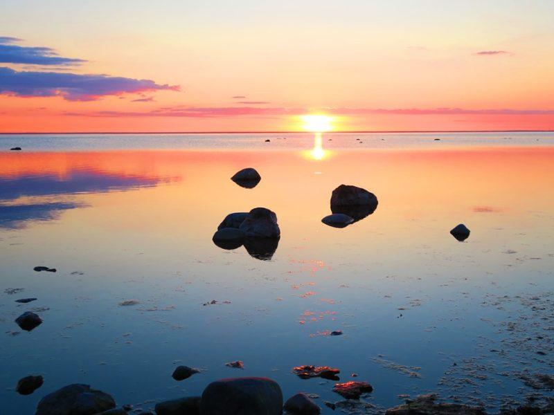 Solnedgang på Øland