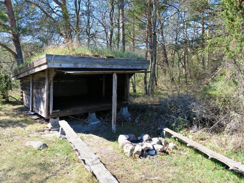 En gammel shelter på Øland