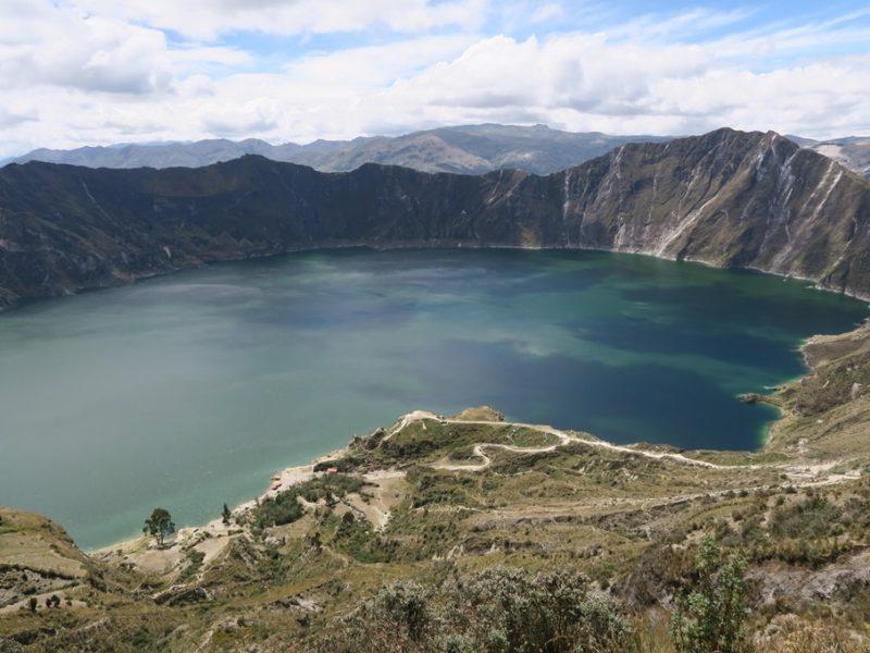 Den smukke kratersø Quilotoa, Ecuador