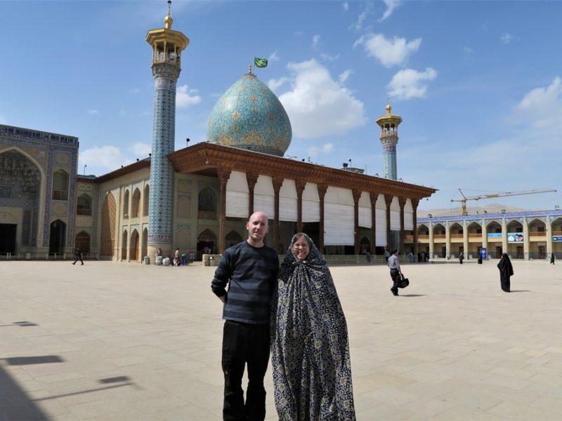 Besøg ved moske i Shiraz, Iran