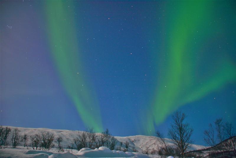 Nordlys på Kvaløya, Norge