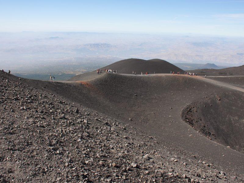 På krateret af Etna, Sicilien