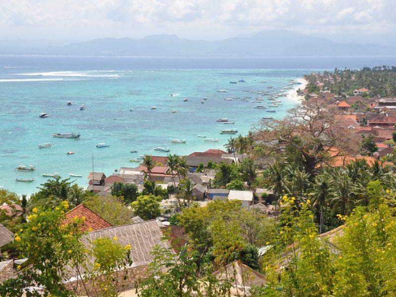 Den fantastiske ø i Indonesien Nusa Lembongan