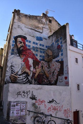 Fed streetart i Lissabon, Portugal
