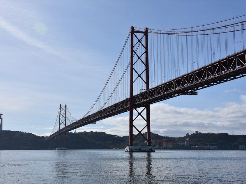 Den berømte bro i Lissabon, Portugal