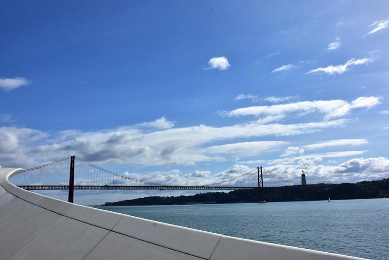 Udsigt til Broen fra Belém, Lissabon, Portugal