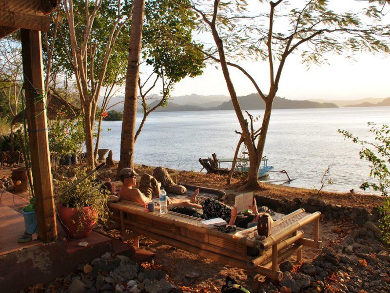 Ren afslapning på øen Gili Gede i Indonesien