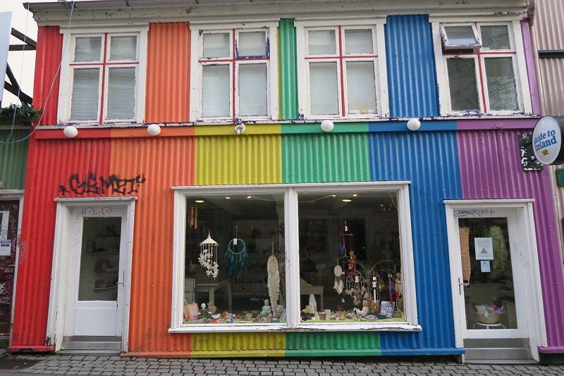 Flot hus i Reykjavik, Island