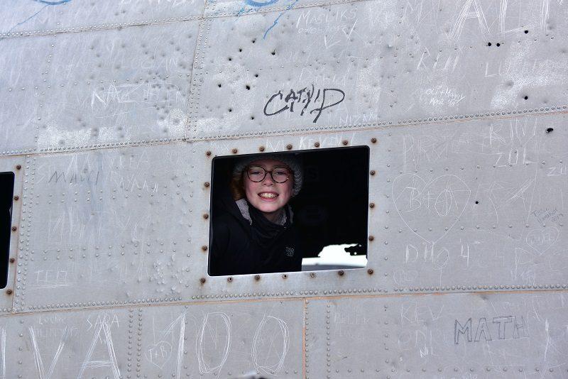 Graffiti på flyvraget ved Vik, Island