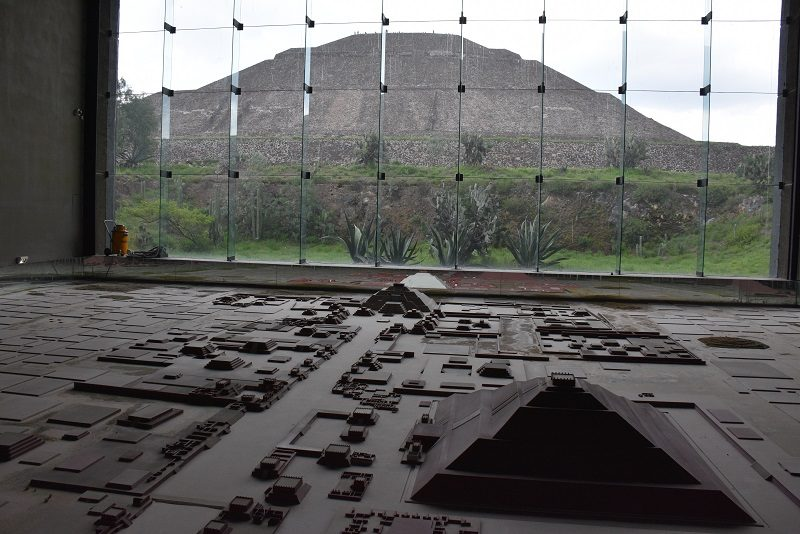 Model af Teotihuacan, Mexico