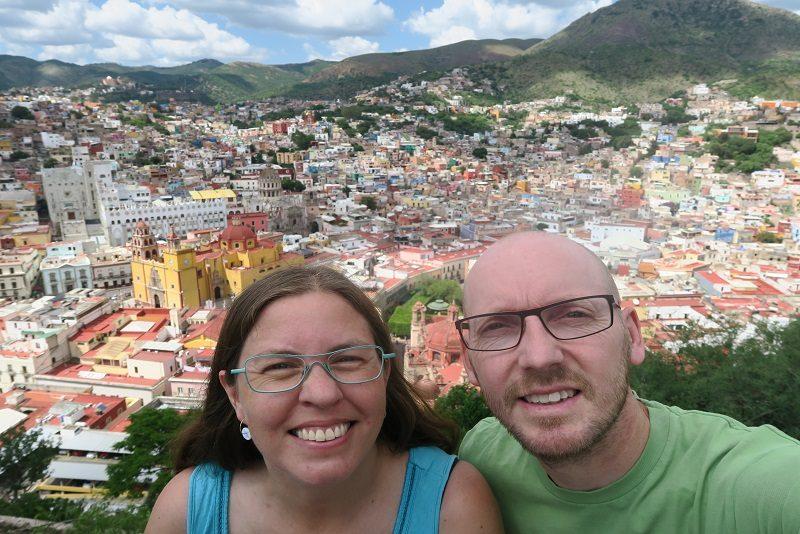 Vi nyder udsigten over Guanajuato, Mexico