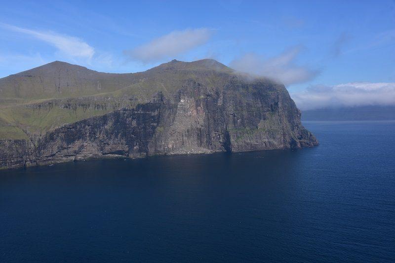 Helikoptertur fra Mykines til Torshavn, Færøerne