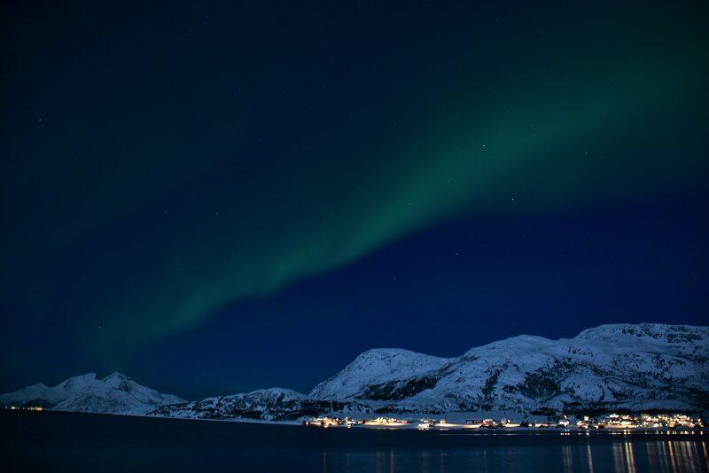 Nordlys ved Kvaløya,