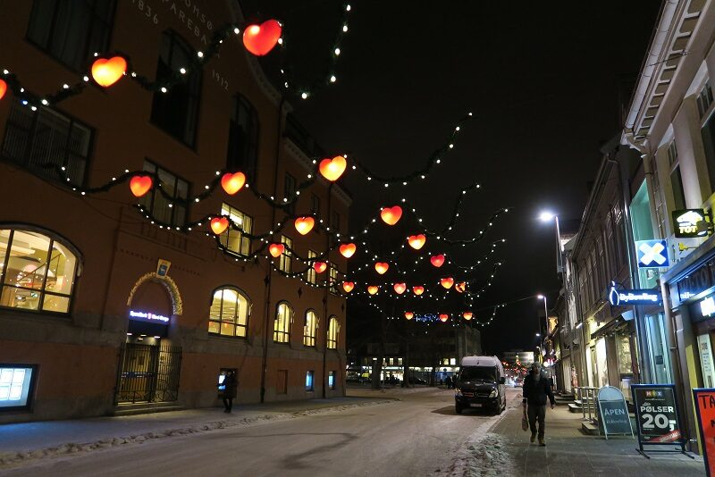Hovedgaden i Tromsø.