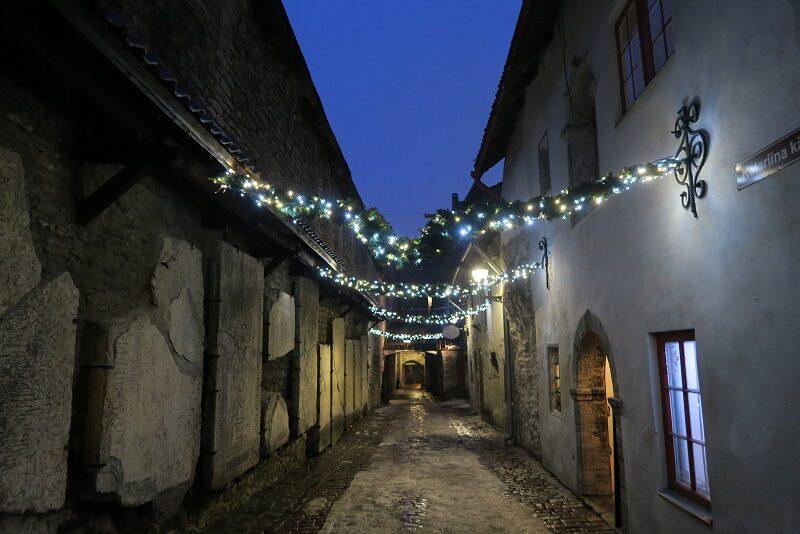 En hyggelig gade i Tallinn